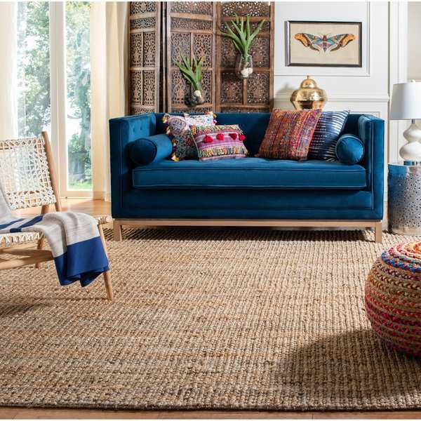 Safavieh Casual Natural Fiber Hand-Woven Natural Accents Chunky Thick Jute Rug - 2'6' x 4'