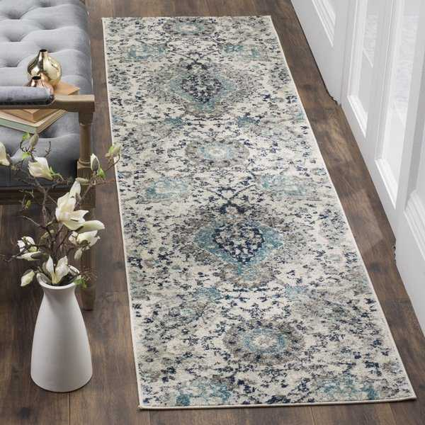 Safavieh Madison Paisley Boho Glam Cream/ Light Grey Runner Rug - 2'3' x 8'