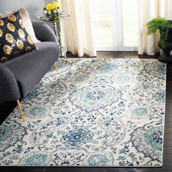 Safavieh Madison Paisley Boho Glam Cream/ Light Grey Rug - 9' x 12'