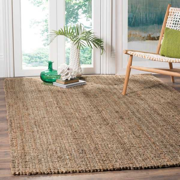 Safavieh Natural Fiber Hand-Woven Natural / Grey Chunky Thick Jute Rug - 4' x 6'