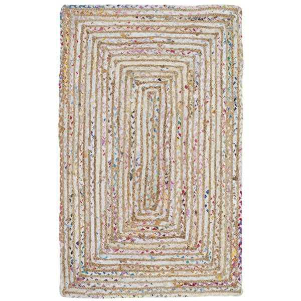 Safavieh Handmade Cape Cod Boho Braided Beige/ Multi Cotton Rug - 2' X 3'