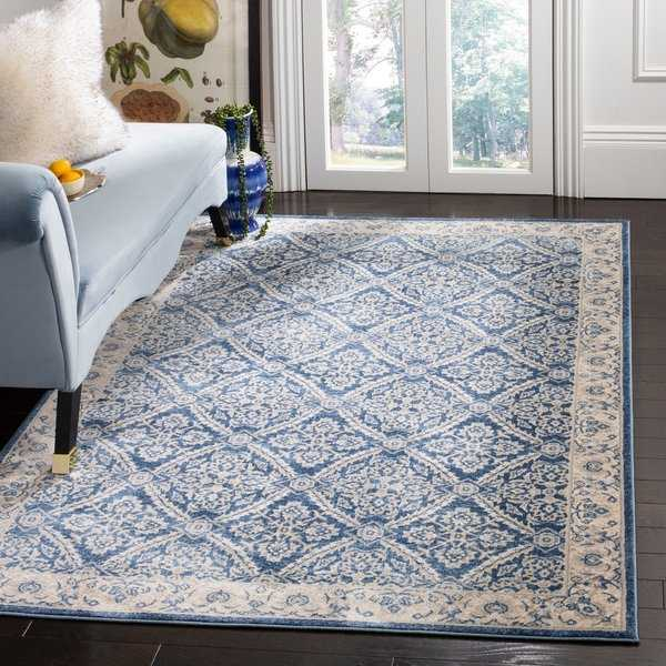 Safavieh Brentwood Traditional Navy / Creme Rug - 3' x 5'