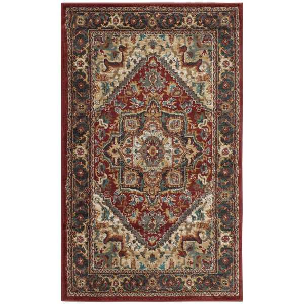 Safavieh Summit Red / Dark Grey Area Rug - 3' x 5'