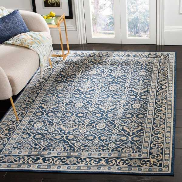 Safavieh Brentwood Traditional Oriental Navy / Light Grey Rug - 8' x 10'