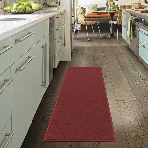 Ottomanson Oscar Collection Anti-Slip Solid Color Runner Rug - 20' x 59'